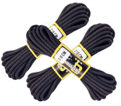 "Extra long Black Boot Laces Pack of Three Pair Extra Strong Braided 210cm 82"" Long"