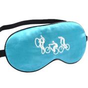 Sleeping Eye Mask Silk Sleep Mask Eye-shade BreatheFreely Aid-sleeping Bike Blue