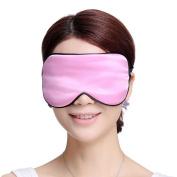 Sleeping Eye Mask Silk Sleep Mask Eye-shade Breathe Freely Aid-sleeping Pink