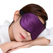 Adjustable Silk Eye Mask Sleep Mask Eye-shade Sleeping Relax Lens Hood Purple