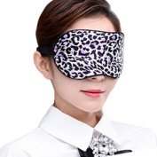 Adjustable Silk Eye Mask Sleep Mask Eye-shade Sleeping Relax Lens Hood Leopard