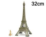 Eiffel Tower Metallic Model Statue Figurine Replica Centrepiece for Desk Room Home Office Decoration Gift - 32cm