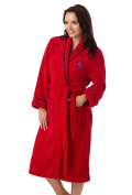 Ladies Scottie Dog Embroidered Fleece Dressing Gown. Red or Navy. Sizes S M L