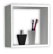 "VCM ""Benos-2.5cm Cube Bathroom Cabinet/Wall Shelf, White"
