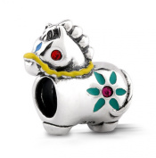 Women's Bead for Pandora Jewellery 925 Sterling Silver in Form of Luxury Horse