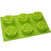 6 Rose Flowers Silicone Mould
