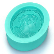 Lady Embossed Brooch Silicone Mould
