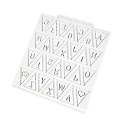 Katy Sue Mould - Alphabet Bunting Mould for Cake and Cupcake Decoration