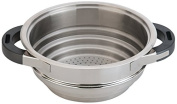 Berghoff Stainless Steel Virgo Steamer Insert for Pans, Silver