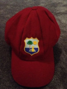 WEST INDIES TEST CRICKET CAP MELTON WOOL CLASSICAL TRADITIONAL 57-62CM ELASTICATED BACK