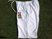 WHITE CRICKET TROUSER WITH SOUTH AFRICA TEST LOGO ADULTS LARGE MENS INCH WAIST 36-38