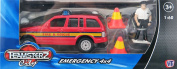 Teamsterz City Emergency 4x4 Kit - Fire & Rescue Car Playset - 1:60 Model 4 Piece Toy Set 3+