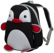 YAAGLE 3 to 7 years old Kids Girls Boys Lovely Cute Animal Cartoon Penguin Backpack Water-proof Light-weight Hiking Travel School Bags Sidekick Day Packs Blue Black Rose Pink