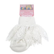 Beautiful luxury lace trim sock