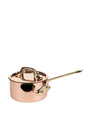 Mauviel 9 cm M'Minis Copper Saucepan and Lid with Bronze Handle
