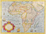 A3 Print - Antique Map of Africa - Jodoco Hondio - 1606