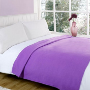 Dreamscene Plain Fleece Blanket, Aubergine, 120 x 150 Cm