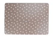 Set of 3 PVC Grey Stars Table Placemats 40x29cm