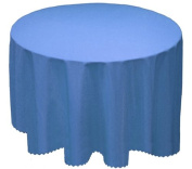 "A-Express® Plain Tablecloth Round Circular Table Cloth 173cm Round 68"" Sky Blue"
