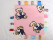 Baby taggie security blanket, taggy baby comforter - bears
