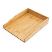 Relaxdays 10014055 Design Letter Tray 33 x 25 CM Bamboo for A4