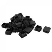 Plastic Square Tube Inserts End Blanking Caps 30mm x 30mm 30 Pcs Black