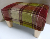 Footstool/ pouffee in an apple tartan fabric....also available in different coloured fabrics...just ask and we can make it for you