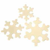 60 Assorted Wood Snowflake Shapes