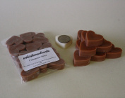 WHICKSNWHACKS 10 HEART Shaped CINNAMON SPICE Ecosoy Wax Melts for your Oil Burner