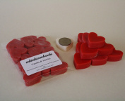 WHICKSNWHACKS 10 HEART Shaped VANILLA & FRESH BERRIES Ecosoy Wax Melts for your Oil Burner