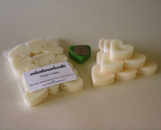 WHICKSNWHACKS 10 HEART Shaped CLEAN COTTON Ecosoy Wax Melts for your Oil Burner