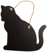Sass & Belle Small Wood Hanging Chalk Board Cat