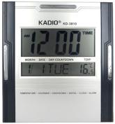 Digital Wall Desktop Clock - Large LCD Display - Best Quality Kadio Clock KD-3810