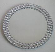 ROUND TABLE MIRROR WITH DECORATIVE DIAMONTE EDGE 91235
