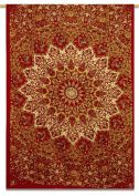 Mandala Star Indian Wall Hanging Red Cotton Tapestry Twin Size Beach Tapestries