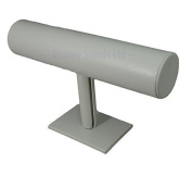 T-Bar White Leatherette Display Stand
