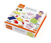 Wooden Magnetic Dressing-up Doll with 8 outfits.