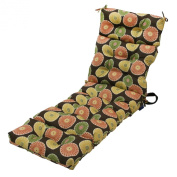 Greendale Home Fashions Indoor/Outdoor Chaise Lounger Cushion, 180cm , Flower on Chocolate