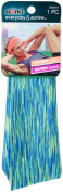 Scunci Single Layer Space Dye Wide with Sewn Keeper Headwrap - Green
