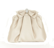 Sondra Roberts Satin Febric Mini Satchel Clutch