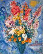 Marc Chagall Art Print, Bouquet de Fleurs