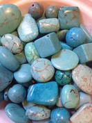 Variety of Mix Gemstones 100 Grammes Semi-precious Turquoise Size 4mm-25mm (Small to Xl) Focal Pieces, Turquoise