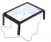 Newest trent Powerful LED Lights 3X Hands-Free Page Magnifier for Reading with Flip Out Legs and Neck Cord to Hang It around Neck - Healthcare for the elderly