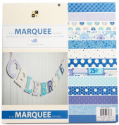 DCWV THE MARQUEE STACK 48 Sheets of 12 x 12 Printed Cardstock