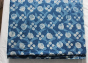 Handicraftofpinkcity Hand Block Print Cotton Fabric Indigo Dabu Print Cotton Fabric Garment Maiterial #04