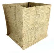 Burlap Tote Bags Natural Colour Birthday Anniversary Wedding Bridal Shower Christmas Favour Bags (13cm x 13cm (12-pack) ...