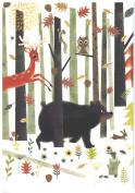 """Bear Deer Owl Boxed Christmas Cards """"Weekend Retreat"""""""