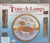 Vogart Crafts Duck Tote-A-Long Counted Cross Stitch Kit