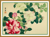Tanigami Konan Asian Camelia Flowers Counted Cross Stitch Chart Graph