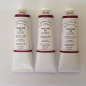 Violet red,extrafine oil paints(three handmade oil colour tubes 60ml each).